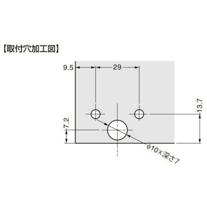 軸吊ガラス丁番 GD3010型 2ヶ GD3010-01-5