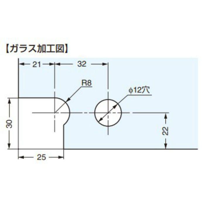 ガラス丁番 GH-PSL40 インセット扉用 2ヶ GH-PSL40