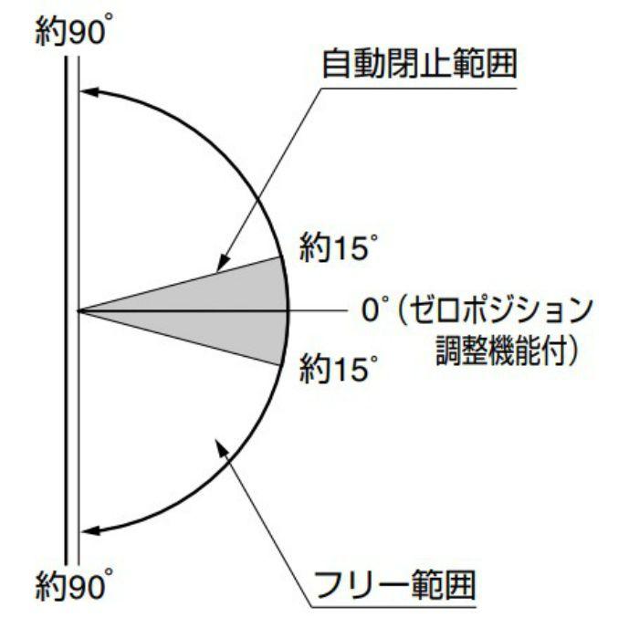 ガラスドア用自由丁番 M8500型 壁取付タイプ M8500R
