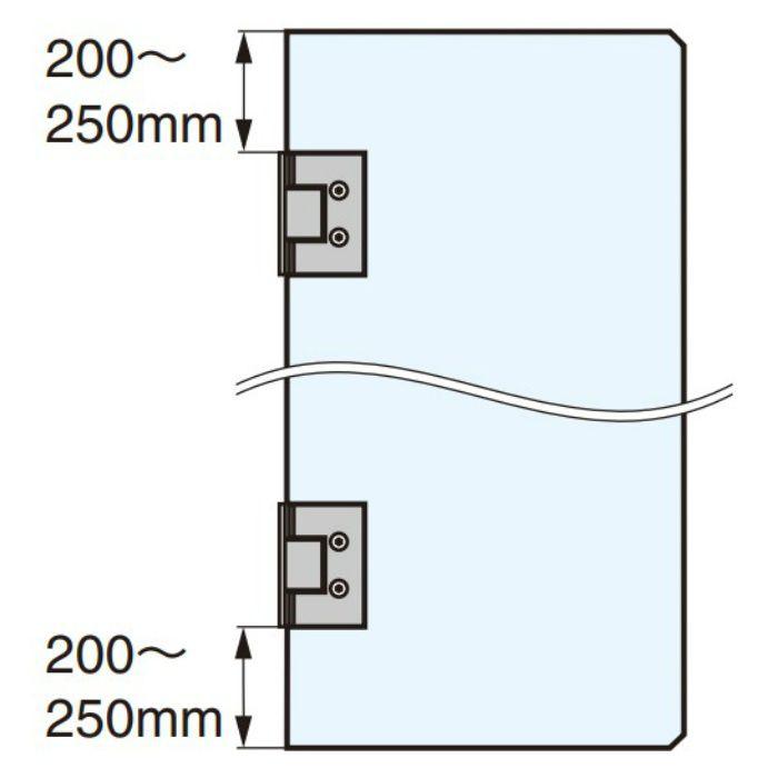ガラスドア用自由丁番 787B型 壁取付タイプ 787B-8SCR