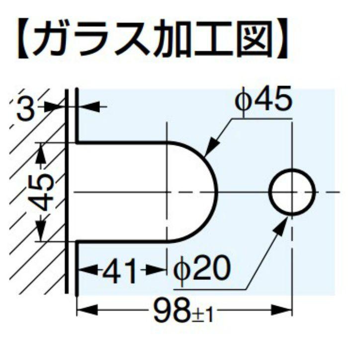 BESTKO ガラスドア用自由丁番 3261型 壁取付タイプ 3261.30.0RNS