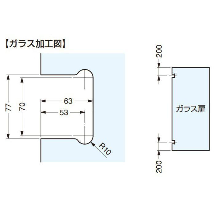 Stremler ガラスドア用 自由丁番 4861型 壁取付タイプ 4861.35.0