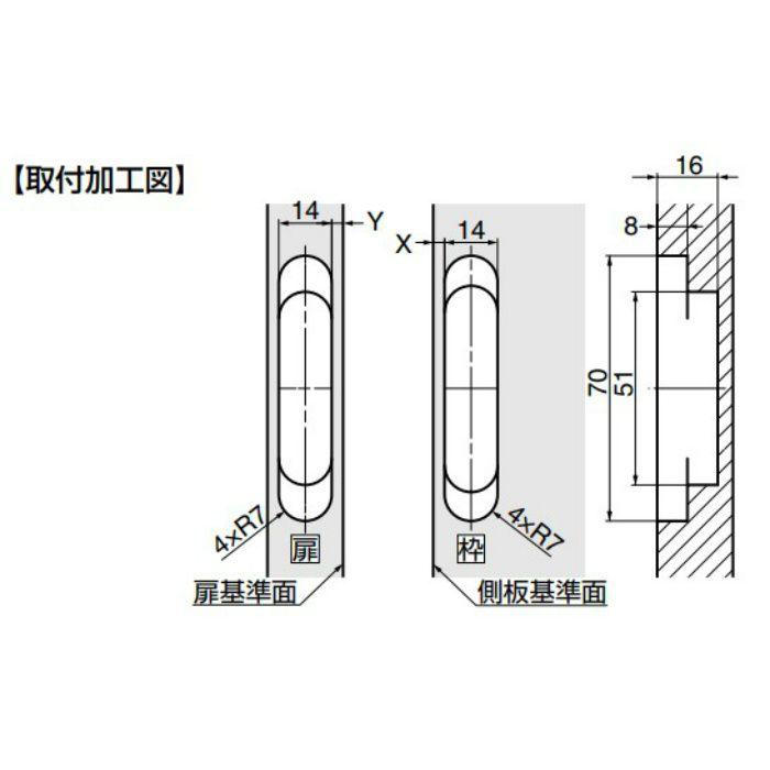ランプ印 三次元調整機能付隠し丁番 HES3D-70型 シャンパンゴールド HES3D-70DN