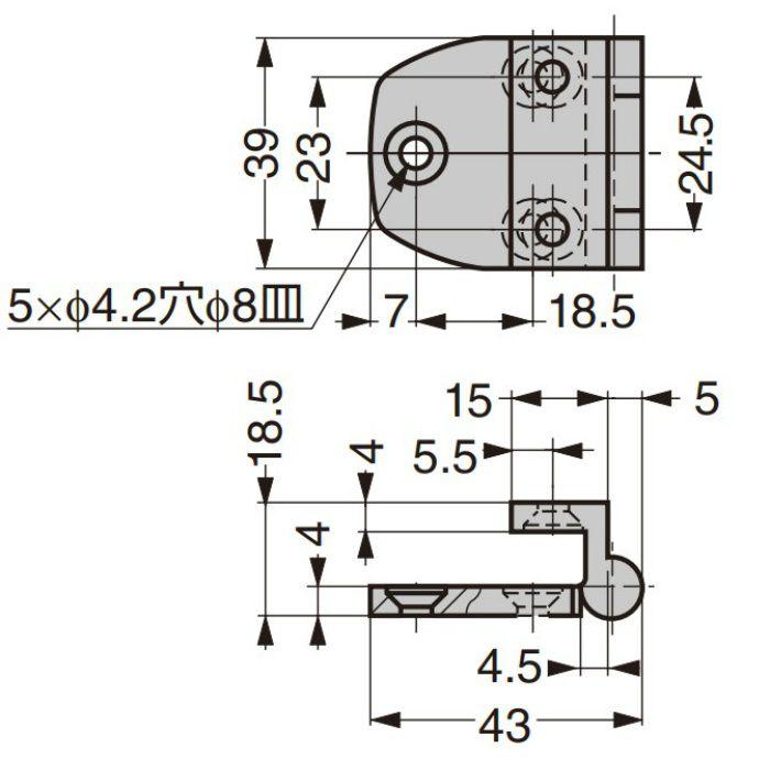 ランプ印 ステンレス鋼製丁番 28100 28100