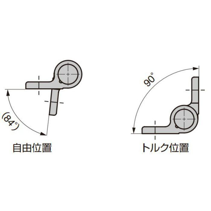 アルミ合金製スプリング丁番 72-1-CLM型 ブラック 72-1-CLM-4219