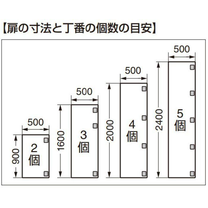 面付丁番 2000-MIGNON型 90°開き 2000-MIGNON