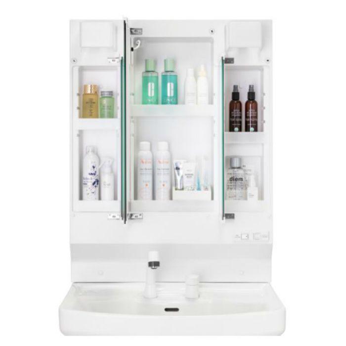 LKAL750AUNJ3KAW1 洗面化粧台セット アルバ750 三面鏡 ホワイト 一般地仕様