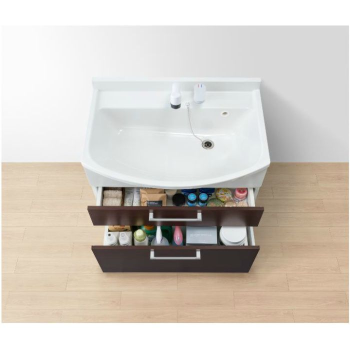 LKAL750AUCJ5SBLHD1 洗面化粧台セット アルバ750 ダークブラウン 寒冷地仕様