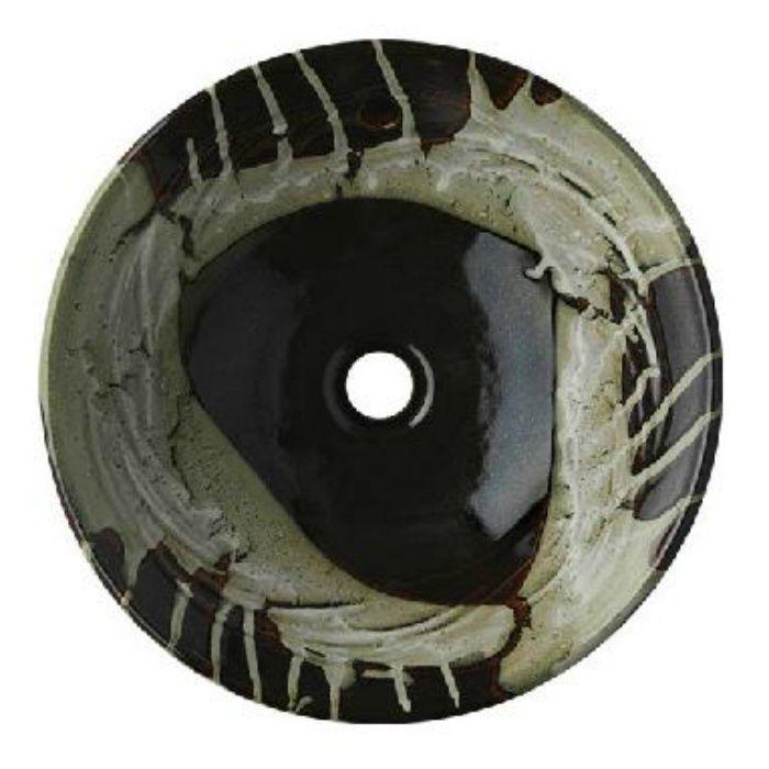 HW1026P-011 「利楽」 洗面器(オーバーフロー) 甘露