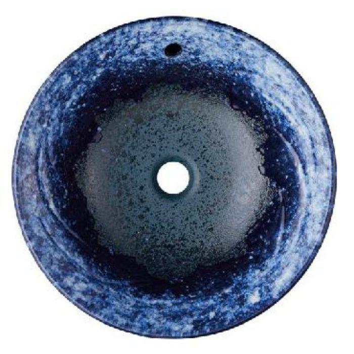 HW1026P-L-016 「利楽」 洗面器(オーバーフロー) 碧空