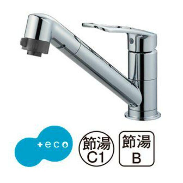 K8711MEJK-S-13 シングルワンホール切替シャワー混合栓(寒冷地用)