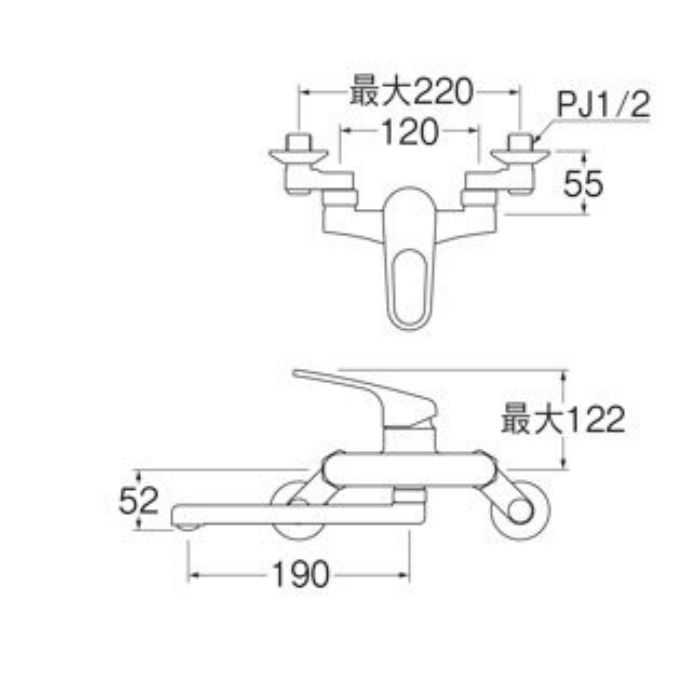 K17CK-13 シングル混合栓(寒冷地用)