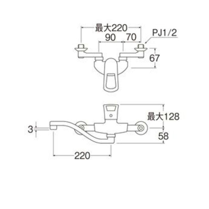 K1712A-13 COULE シングル混合栓