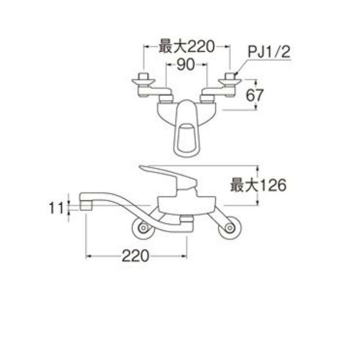 K1712EAK-13 COULE シングル混合栓(寒冷地用)