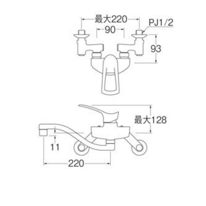 K1712EAK-3U-13 シングル混合栓(寒冷地用)