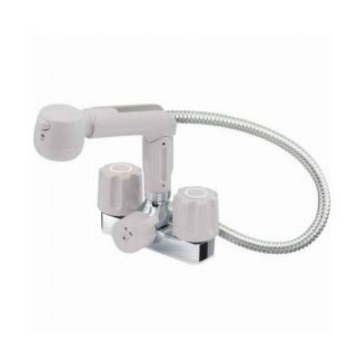 K3104K-LH-13 U-MIX ツーバルブスプレー混合栓(洗髪用)(寒冷地用)