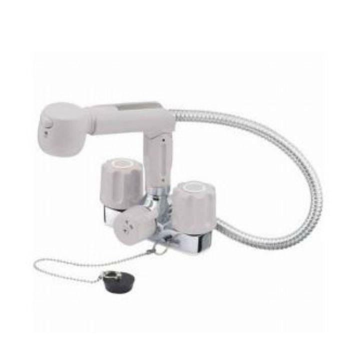 K3104KR-LH-13 U-MIX ツーバルブスプレー混合栓(洗髪用)(寒冷地用)