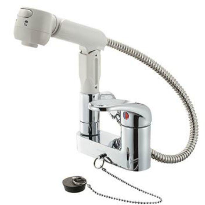 K37100KR-13 U-MIX シングルスプレー混合栓(洗髪用)(寒冷地用)