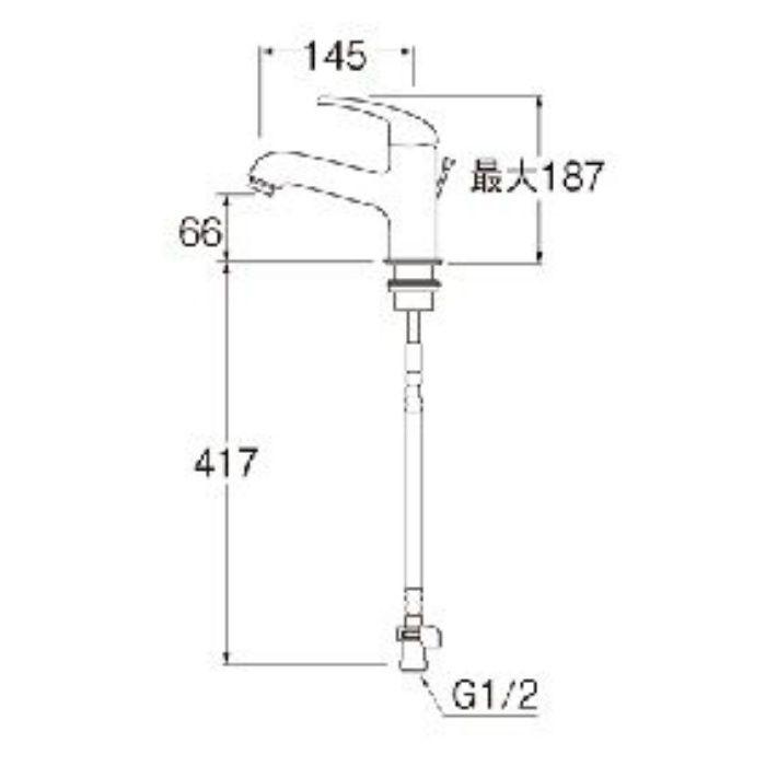 K4710PJK-13 U-MIX シングルワンホール洗面混合栓(寒冷地用)