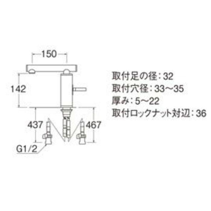 K4730JK-JD-13 TOH シングルワンホール洗面混合栓(寒冷地用) 黒磁