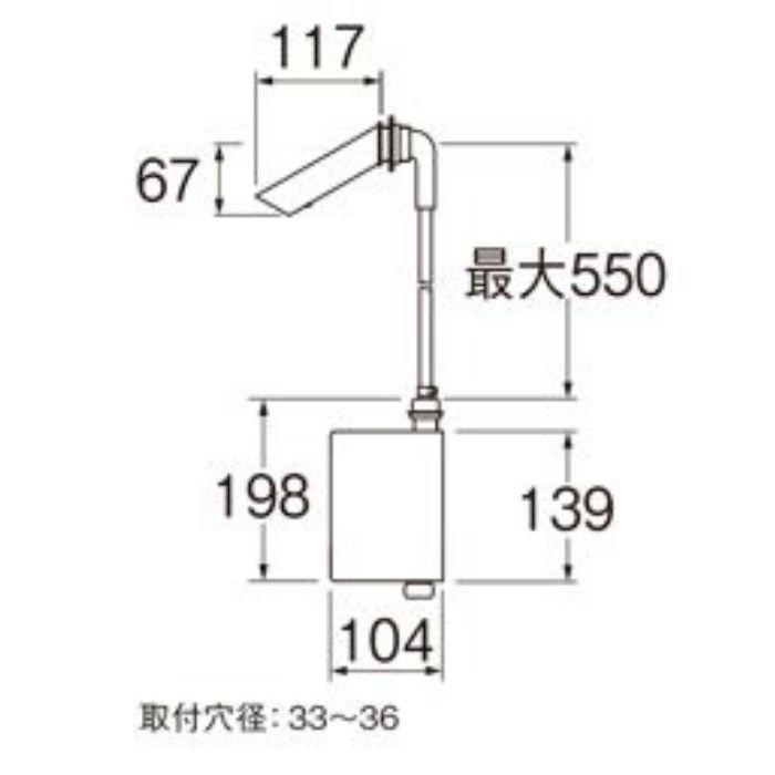 EY101HE-13 自動横水栓(発電仕様)