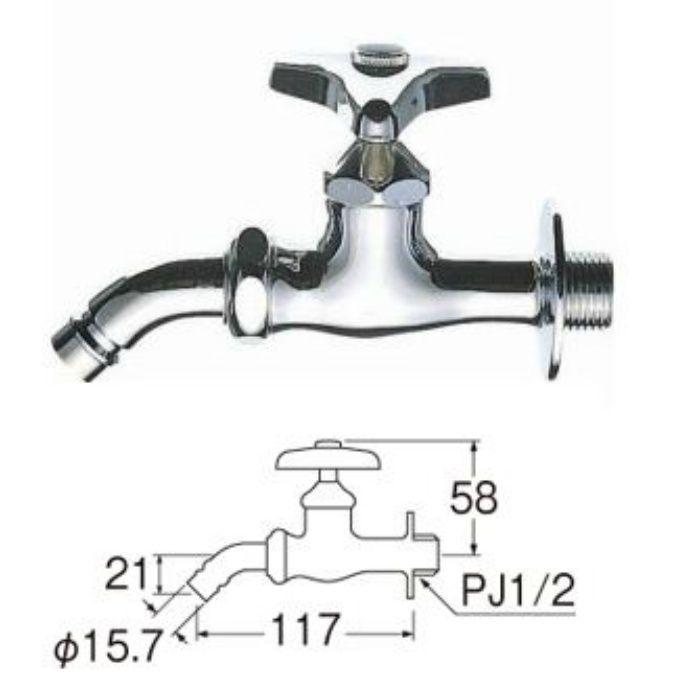JY123K-13 洗濯機用ホーム水栓(寒冷地用)