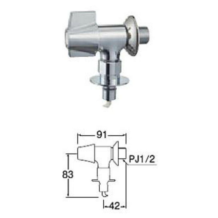 JY1432TK-13 洗濯機用送り座水栓(寒冷地用)