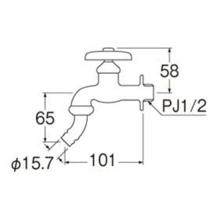 Y103K-13 洗濯機用水栓(寒冷地用)