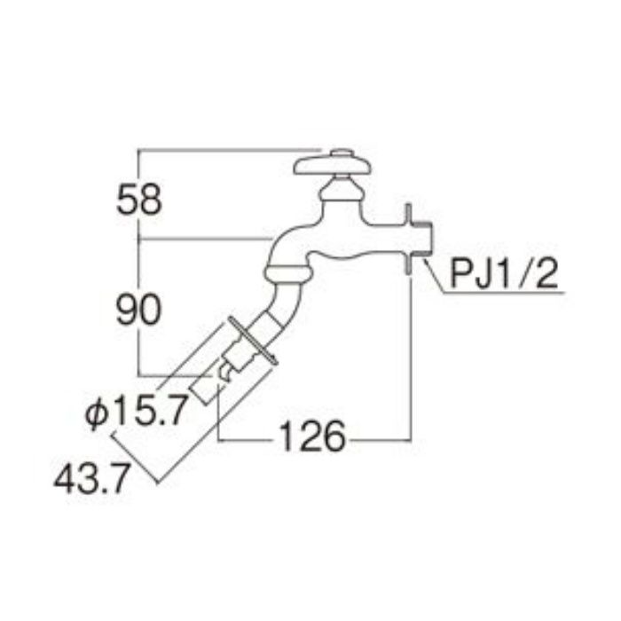 Y103TV-1-13 洗濯機用水栓