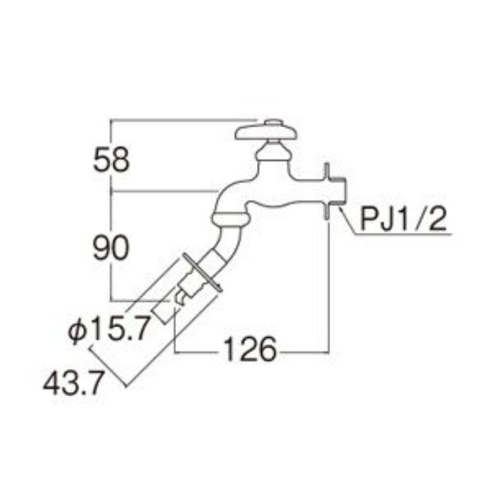 Y103TK-1-13 洗濯機用水栓(寒冷地用)