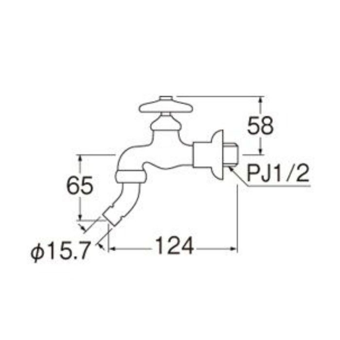 Y113K-13 洗濯機用送り座水栓(寒冷地用)