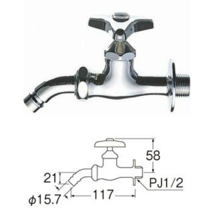 Y123K-13 洗濯機用ホーム水栓(寒冷地用)