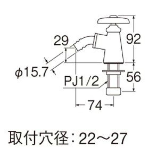JY503-13 洗濯機用立水栓