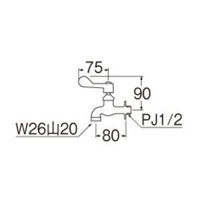 A1310F-13 厨房用自在水栓本体(共用形)