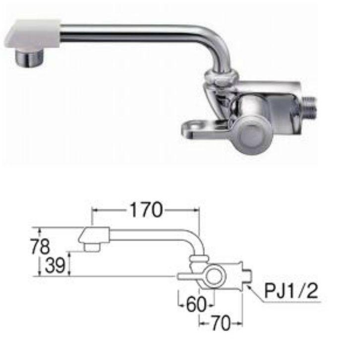 JA202DCK-13 横形自在水栓(寒冷地用)