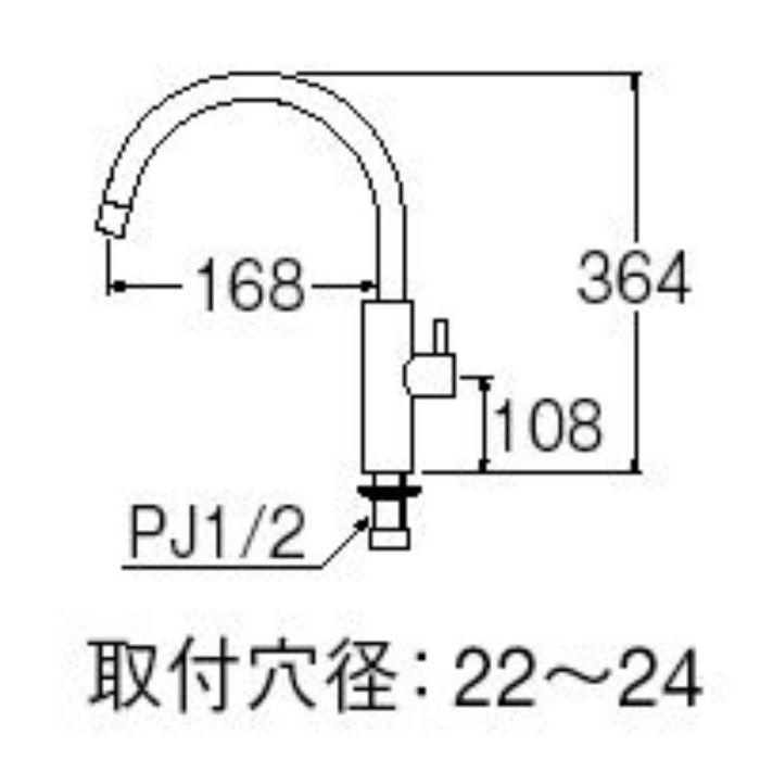 Y5475H-13 column 立水栓【ワンホール】
