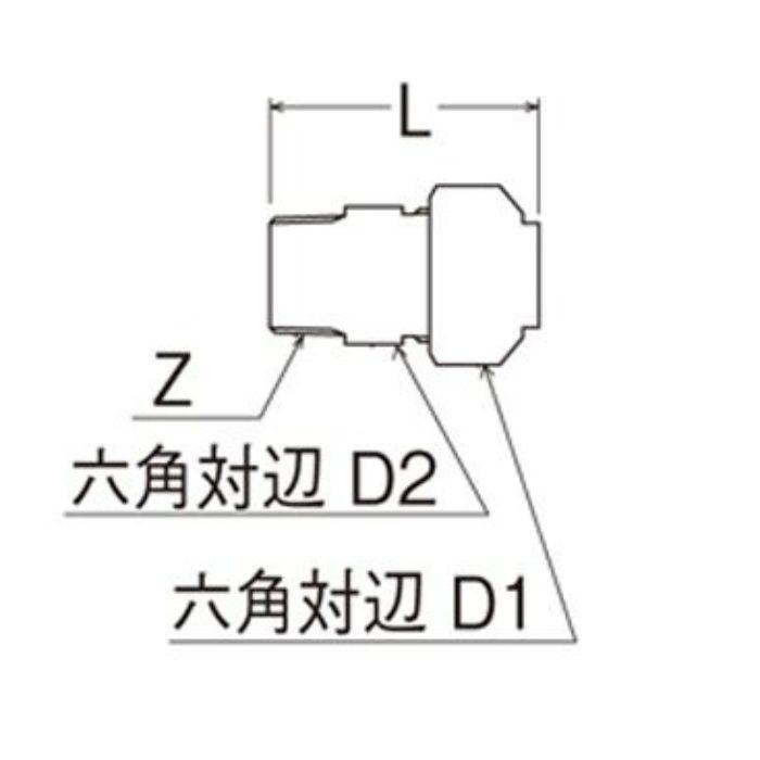 T600N-3-13X13A-S オスアダプター