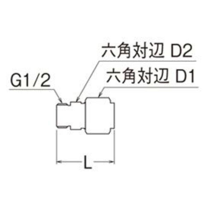T601N-3-13X13A-S オスアダプター平行