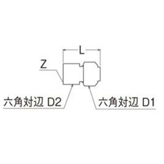 T610N-3-13X16A-S メスアダプター
