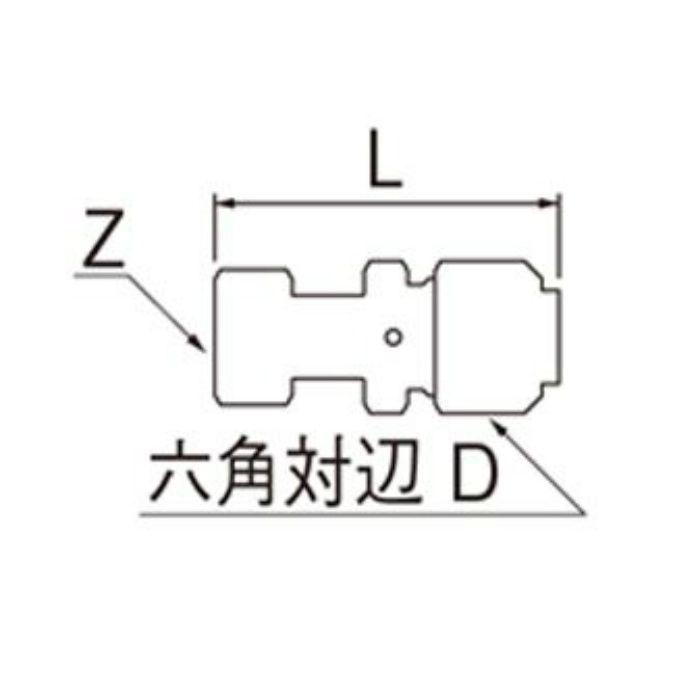 T615N-3-25X16A-S ナット付アダプター