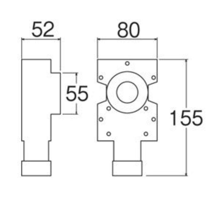 T850-3-S-25 壁用水栓ボックス