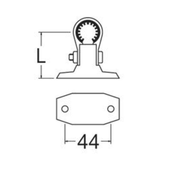 R654N-1-50 樹脂製T字サドル 防振ゴム付