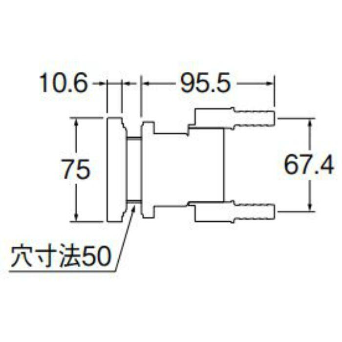 T412-345-10A 一口循環接続金具