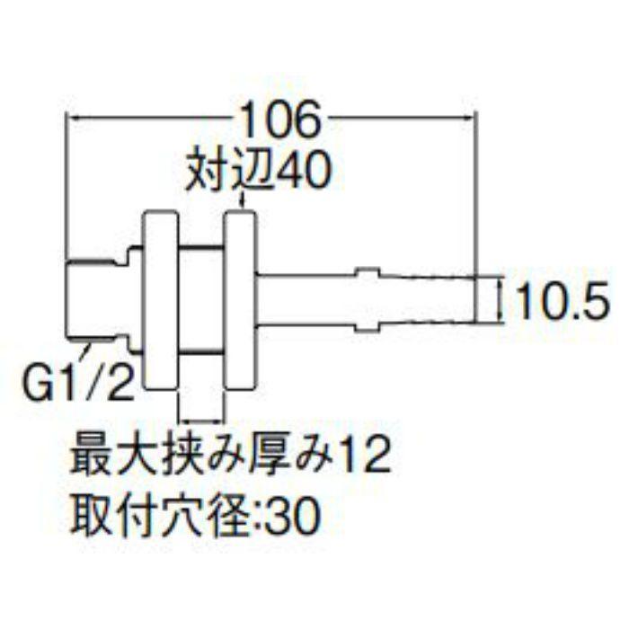 T431-2S-10A ユニット貫通金具