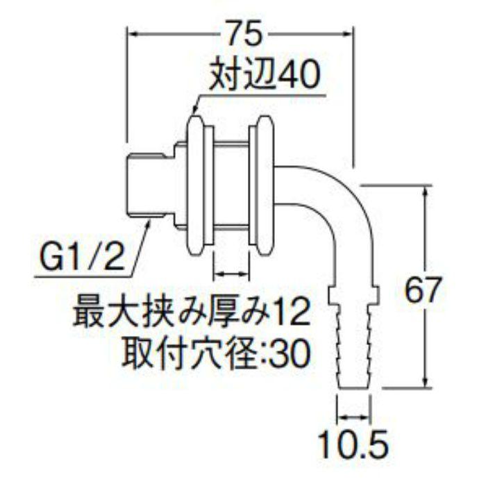 T4315-12S-10A ユニット貫通L金具