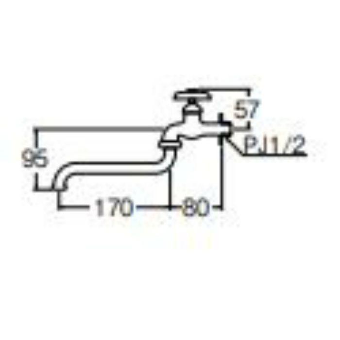 JA10E-13 自在水栓【壁付】