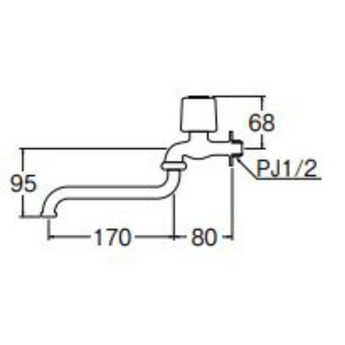JA10JC-13-R 自在水栓【壁付】