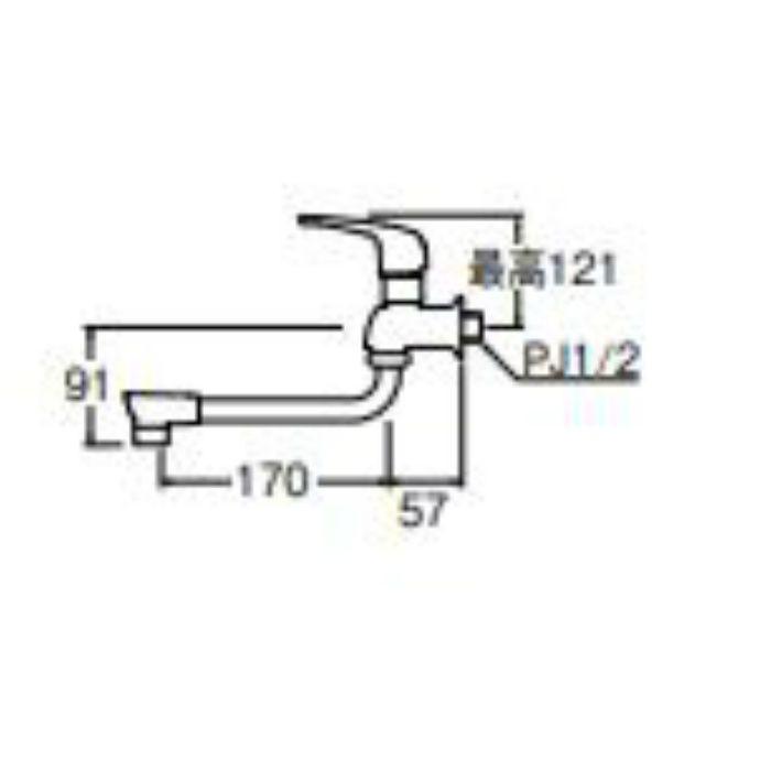 JA1071-13 シングル自在水栓