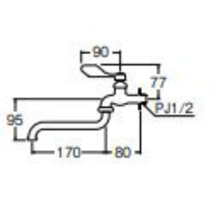 A130-13 節水レバー自在水栓