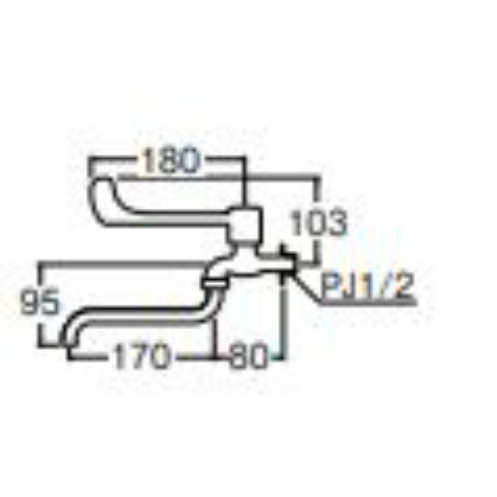 JA131-13 レバー自在水栓【壁付】